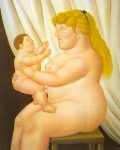 Fernando Botero, Madre con suo figlio, 1995